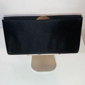 Rodo Black Satin Evening Clutch Shoulder Bag Purse